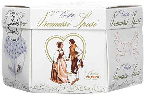 Crispo Confetti Promessi Sposi - Colore Bianco - 4 confezioni da 500 g [2 kg]