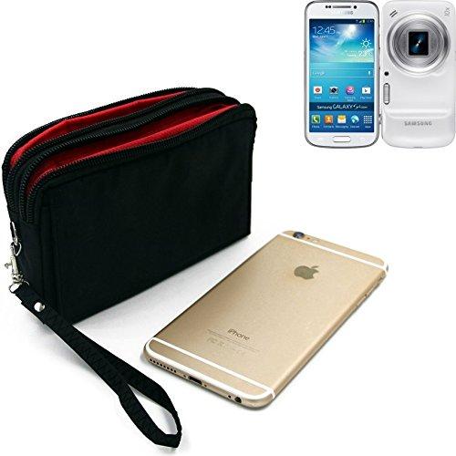 K-S-Trade Für Samsung Galaxy S4 Zoom Gürteltasche Schwarz Travel Bag, Travel-Hülle Mit Diebstahlschutz Praktische Schutz-Hülle Schutz Tasche Holster Outdoor-case Für Samsung Galaxy S4 Zoom