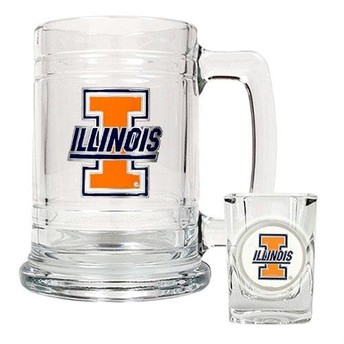Illinois Fighting Illini NCAA 2pc Rocks Glass Set