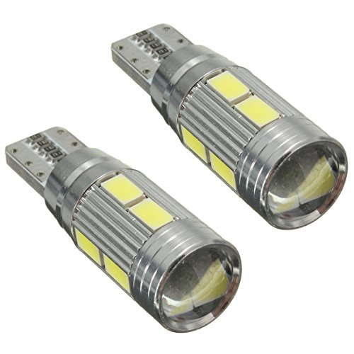Senmubery 2 X Lampade T10 W5W 5630 10 LED SMD CANBUS Luce Bianca 6000K Auto 5W