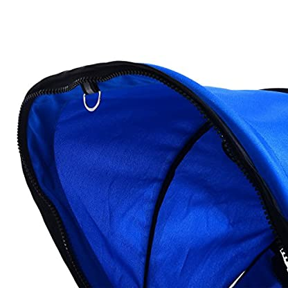 PawHut Pet Travel Stroller Cat Dog Pushchair Trolley Puppy Jogger Carrier Three Wheels (Blue) 6