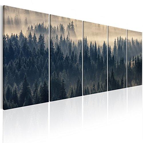 murando - Bilder Wald Landschaft 200x80 cm Vlies Leinwandbild 5 TLG Kunstdruck modern Wandbilder XXL Wanddekoration Design Wand Bild - Natur c-B-0292-b-m