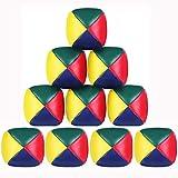 SIMUER Bolas de Malabarismo, 9 Pack Mini Bolas para Malabares Beginners Juggling Balls fáciles y duraderas para Principiantes Niños Adultos
