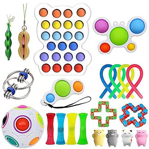 Fidget Toys Pack - Push Bubble Pop Toy Juego de Juguetes para...
