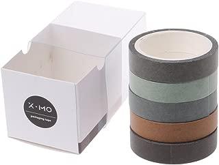 lunji 5pcs Masking Tape recortes–Washi Tape–Cinta adhesiva–Papel decorativo, multicolor