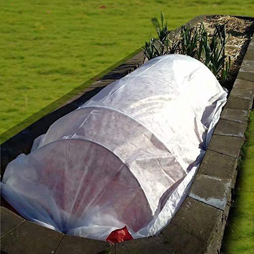 Agfabric Floating Row Covers 5'x25' 0.9oz Plant Covers Freeze Sun Protection, Frost Cloth for Vegetables
