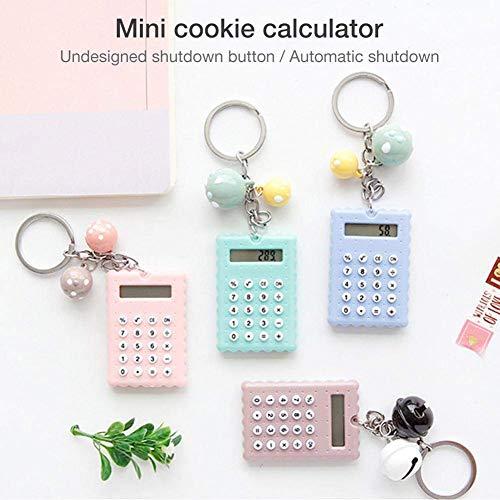 Lounayy Tragbarer Mini-Taschenrechner-Schlüsselanhänger Für Studenten - Niedlicher Basic Mode Super Dünner Taschenrechner-Schlüsselanhänger Sale Burobedarf Täglich Gebrauch Produkt