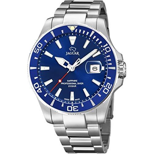 Reloj Jaguar Acamar J860/C Esfera Azul Bisel Azul 44mm diámetro
