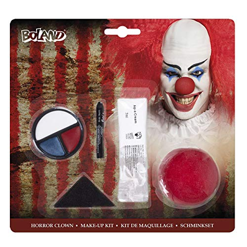 Boland 45094 Schminkset Horror Clown, Mehrfarbig
