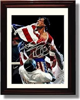 Framed Sylvester Stallone Rocky IV Autograph Replica Print