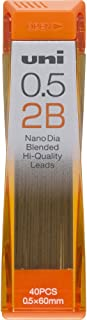 Uni Mechanical Pencil Lead, Nano Dia, 0.5mm, 2B (U05202ND2B)