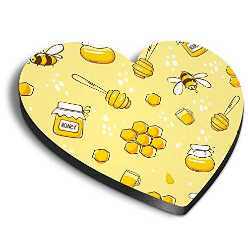 Destination Vinyl ltd Imanes de corazón MDF – diseño de abejas de miel para oficina, armario y pizarra blanca, pegatinas magnéticas 45349