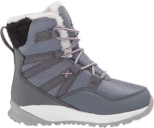 Jack Wolfskin Unisex Kinder Polar Wolf Texapore HIGH K Wasserdicht Bootsschuh, Pebble Grey/Off-White, 36 EU
