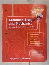 Elements of Language : Grammar, Usage and Mechanics: Language Skills Answer Key - Grade 8