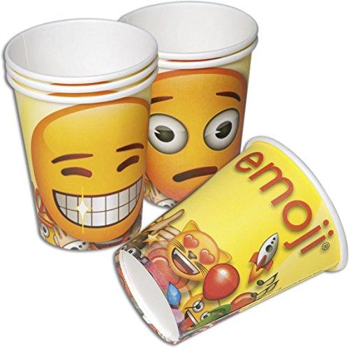 Happy People 15961 - Emoji Becher, 200 ml, 6 Stück