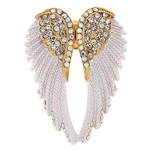 Glänzend Ring Strass Engelsflügel Damen Ring Engel Ring Flügel Frauen Geschenk Kristallschmuck