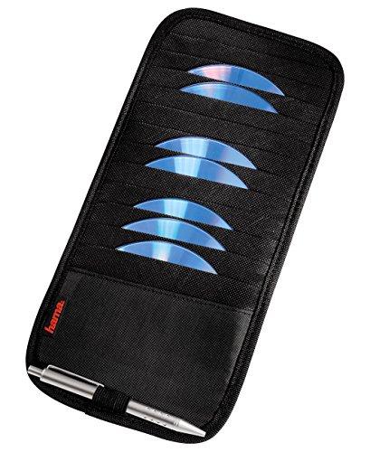 Hama Sonnenblende Tasche (geeignet für 12 CDs, Auto CD Aufbewahrung mit Stifthalter) schwarz