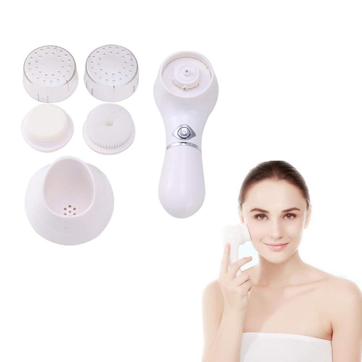 結婚式火第二に洗顔ブラシ剥離ブラシセット、すべての肌タイプのためのアンチエイジングスキンクレンジングシステム2つの剥離ブラシ付きフェイシャルブラシ用ヘッド穏やかな剥離