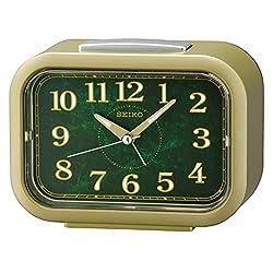 SEIKO Ren Alarm Clock, Green