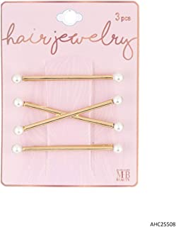 MHB Must-Have-Beauty Women's Hair Accessories - HAIR JEWELRY - 3PC PEARL HAIR PINS