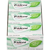 Purely Trident Spearmint Sugar Free Gum - with Xylitol, 12 Count of Eack 14 Sticks Pack, 168 Sticks