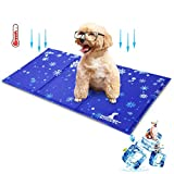 Wimypet Dog Cooling Mat, Large Pet Cool Mat Non-Toxic Bed Ice Gel Cooling