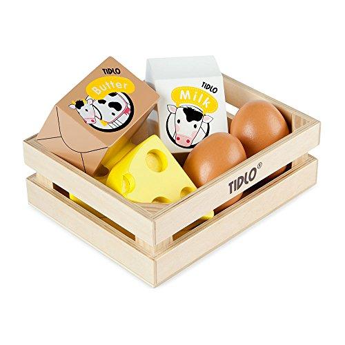 Tidlo T-0108 - Kiste mit Eiern und Molkereiprodukten, Spielwaren