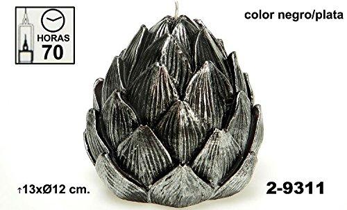 DONREGALOWEB set met 2 kaarsen in de vorm van een douchekop, versierd in zwart en zilver