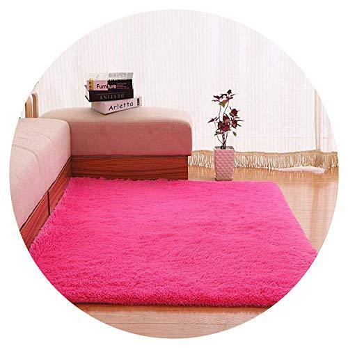 Rutschfeste Matte, Dicker Bodenteppich für Wohnzimmer, einfarbig, für Badezimmer, Wasseraufnahme, Größe Cuatom, Rosa, 80 x 160 cm