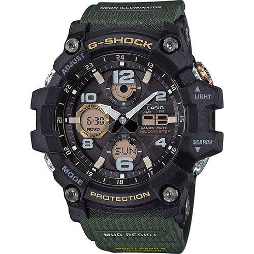 CASIO Herren Digital Uhr mit Harz Armband GWG-100-1A3ER