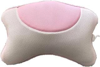 バスタブ枕 洗える入浴枕 - 4強力ノンスリップ吸盤 - 頭、首や肩をトータルにサポート - フィットバス浴槽、ホットタブ、ジャグジー バスタブとスパ枕 (色 : グレー, Size : 36 x 28 x 9cm)