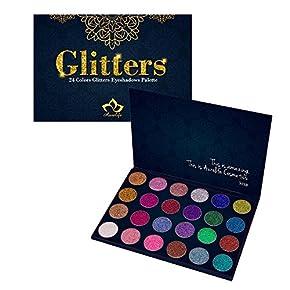 Aolailiya 24 Color Pressed Glitter Eyeshadow Palette – Mineral Ultra Shimmer Makeup Palette Eye Shadow Powder Long Lasting Waterproof