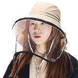 (シッギ)Siggi フェイスカバー つば広ハット uvカット帽子 レディース 日よけ帽子 日焼け止め 紫外線対策 防塵 婦人用 女優帽 夏用 自転車 折りたたみ ひも uvhat ぼうし 大きいサイズ カーキ