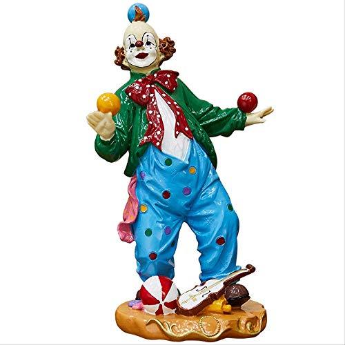 W-SHTAO L-WSWS - Figuras decorativas decorativas decorativas para el hogar, diseño de payaso de circo, estilo retro, sala de estar, gabinete de tv