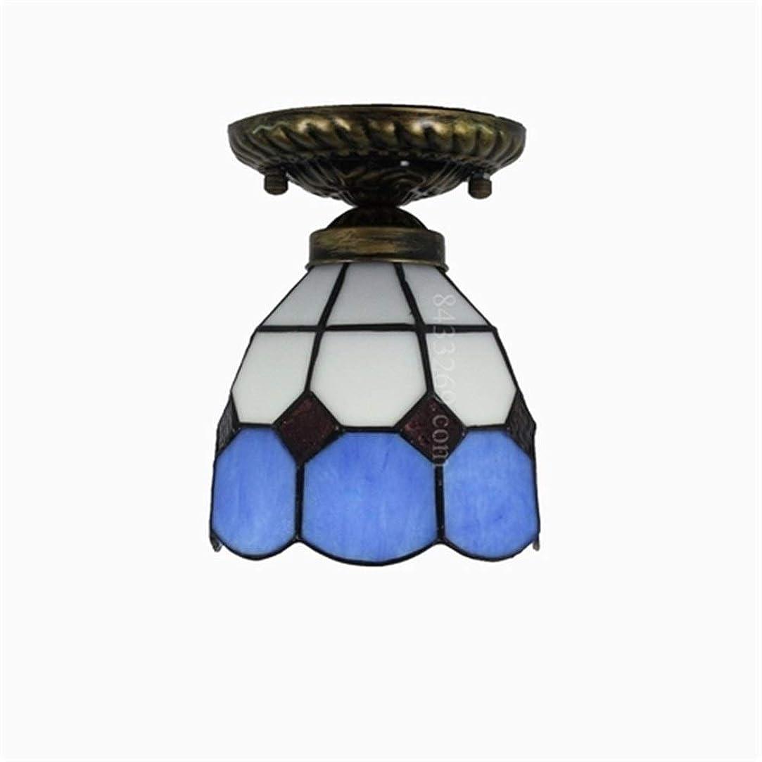 寛大なサワー対話手作りの天井ランプ、家の装飾のためのガラスステンドグラスの天井灯ティファニースタイル