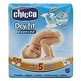 Chicco DryFit - Pack de 17 pañales ultra absorbentes, talla 5, 12-25 Kg