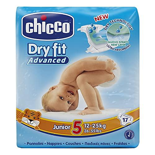 Chicco Dry Fit Advanced Set von 17Windeln Junior Größe 5