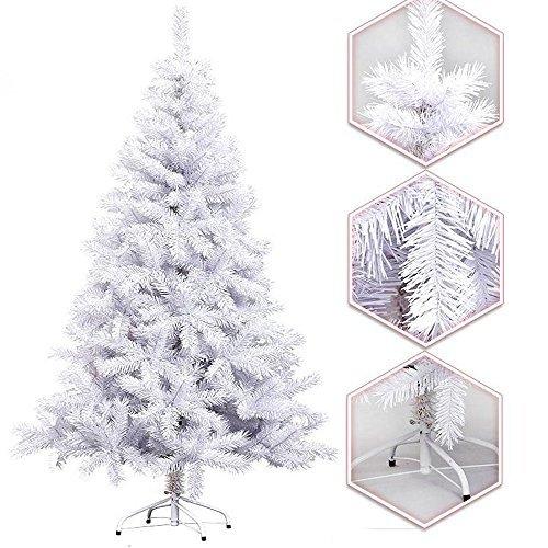 Hengda 150CM Künstlicher Weihnachtsbaum Tannenbaum Christbaum Kunsttanne mit Metallfuß WEIß