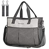 Diaper Bag Tote, CANWAY Travel Diaper Bag Convertible Baby Bag with Insulated...