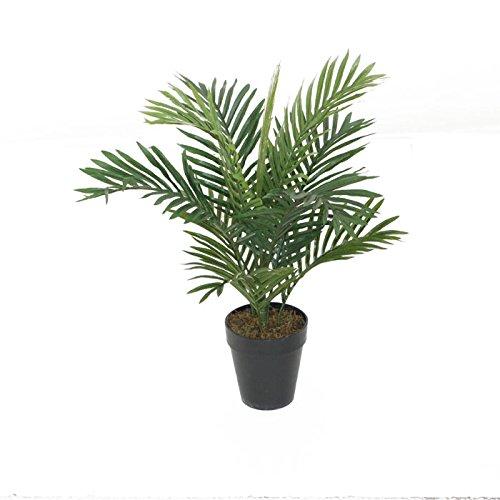 Künstliche Areca-Palme für Garten, Büro, Wintergarten, tropische Außen- oder Innen-Pflanze, 60 cm.