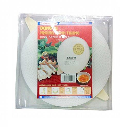 Pamai Pai® Schablone für Reispapier 22cm Vietnamesische Frühlingsrollen Sommerrollen Reis