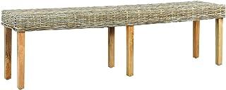 Panchina da Giardino Panchina da Esterno in Polirattan Nero 106x60x84 cm Tidyard