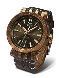 Vostok-Europe energia 2NH35–575o285Piel Verde marrón Reloj Piloto Automático 49mm