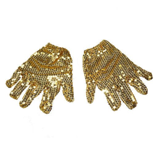 Party-Discount KES60779 Sale Handschuhe mit Pailetten, Gold