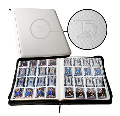 TopDeck 1000 Card Portfolio | 16 Pocket Trading Cards Album | Side Load Sleeves | Pokemon/MTG/Yugioh/TCG Folder | Trading & Sports Holder | TCG Binder (White)