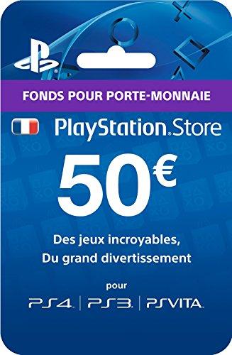 PlayStation Live Cards - 50 euros - PlayStation 4 [Edizione: Francia]