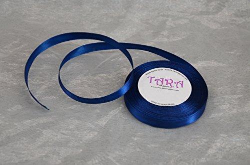32M Cinta de Raso 6mm (112Color Azul Marino)/Banda Decorativa Lazo Decorativo de Banda Cinta para Regalo Boda Comunión