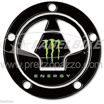 GOZAR Motociclo 3D Serbatoio del Carburante Tappo Copertura Pad Adesivo per Kawasaki Ninja Z1000 X-6R//10R//12R//14R Z750 Z800 Nero
