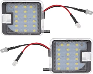 JINGMO Two Sides Rear View Mirror LED Puddle Lights for Ford C-max Kuga Escape Mondeo
