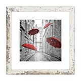 Finefrarm 12x12 Frame Matted to Display 8x8 Photos with Mat or 12 x 12 Pictures Without Mat Rustic Photo Frames Wall Art for Living Room Wall Mounting